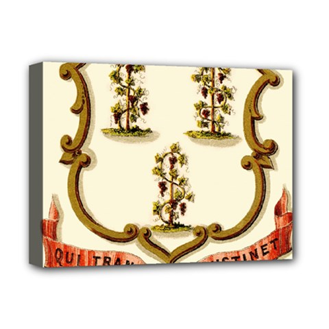 Historical Coat Of Arms Of Connecticut Deluxe Canvas 16  X 12  (stretched)