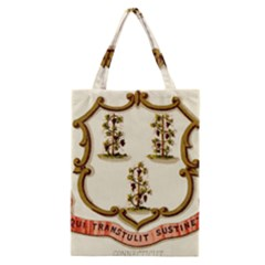 Historical Coat Of Arms Of Connecticut Classic Tote Bag