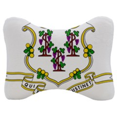 Coat Of Arms Of Connecticut Velour Seat Head Rest Cushion by abbeyz71