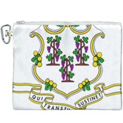 Coat Of Arms Of Connecticut Canvas Cosmetic Bag (xxxl) by abbeyz71