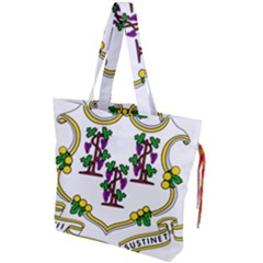 Coat Of Arms Of Connecticut Drawstring Tote Bag by abbeyz71