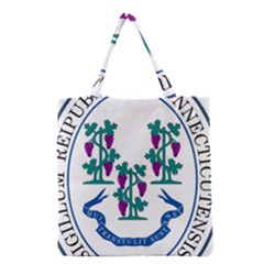 Great Seal Of Connecticut Grocery Tote Bag