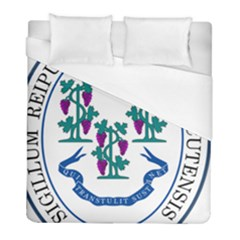 Great Seal Of Connecticut Duvet Cover (full/ Double Size) by abbeyz71