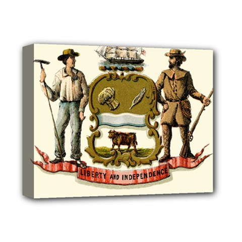 Historical Coat Of Arms Of Delaware Deluxe Canvas 14  X 11  (stretched) by abbeyz71