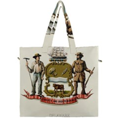 Historical Coat Of Arms Of Delaware Canvas Travel Bag by abbeyz71