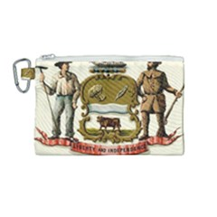 Historical Coat Of Arms Of Delaware Canvas Cosmetic Bag (medium) by abbeyz71