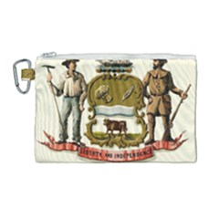 Historical Coat Of Arms Of Delaware Canvas Cosmetic Bag (large) by abbeyz71