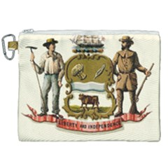 Historical Coat Of Arms Of Delaware Canvas Cosmetic Bag (xxl) by abbeyz71