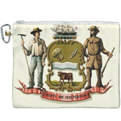 Historical Coat Of Arms Of Delaware Canvas Cosmetic Bag (xxxl) by abbeyz71