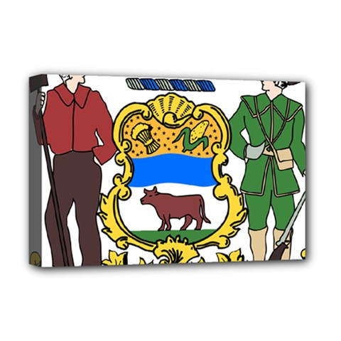 Delaware Coat Of Arms Deluxe Canvas 18  X 12  (stretched) by abbeyz71