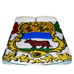 Delaware Coat Of Arms Fitted Sheet (queen Size) by abbeyz71