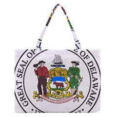 Great Seal Of Delaware Zipper Medium Tote Bag by abbeyz71