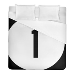 Delaware Route 1 Marker Duvet Cover (full/ Double Size) by abbeyz71