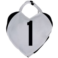 Delaware Route 1 Marker Giant Heart Shaped Tote by abbeyz71