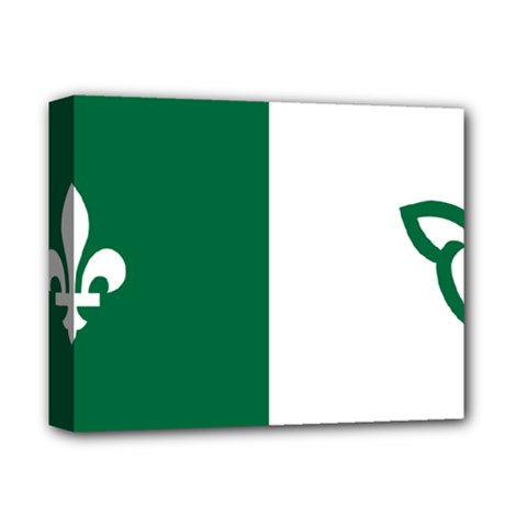 Franco Ontarian Flag Deluxe Canvas 14  X 11  (stretched)