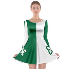 Franco Ontarian Flag Long Sleeve Skater Dress