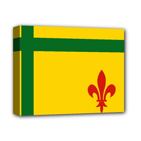Flag Of The Fransaskois Deluxe Canvas 14  X 11  (stretched)