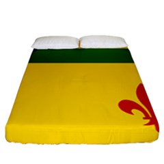 Flag Of The Fransaskois Fitted Sheet (california King Size) by abbeyz71