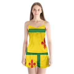 Flag Of The Fransaskois Satin Pajamas Set
