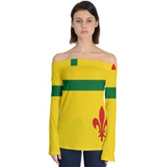 Flag Of The Fransaskois Off Shoulder Long Sleeve Top