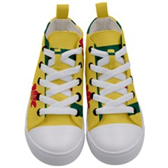 Flag Of The Fransaskois Kid s Mid Top Canvas Sneakers