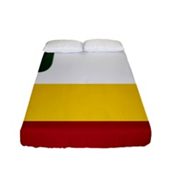 Flag Of Franco Manitobans Fitted Sheet (full/ Double Size) by abbeyz71