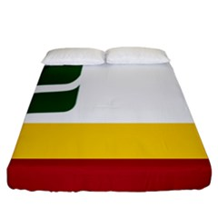 Flag Of Franco Manitobans Fitted Sheet (california King Size) by abbeyz71