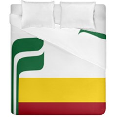 Flag Of Franco-manitobans Duvet Cover Double Side (california King Size) by abbeyz71