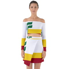 Flag Of Franco-manitobans Off Shoulder Top With Skirt Set by abbeyz71