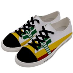 Flag Of Franco Manitobans Men s Low Top Canvas Sneakers by abbeyz71