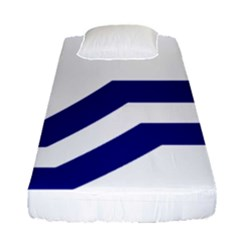Flag Of The Franco Columbians Fitted Sheet (single Size) by abbeyz71