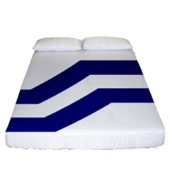 Flag Of The Franco Columbians Fitted Sheet (queen Size) by abbeyz71