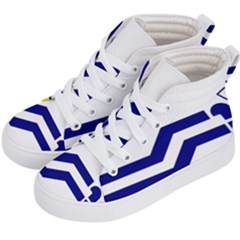 Flag Of The Franco Columbians Kid s Hi Top Skate Sneakers by abbeyz71