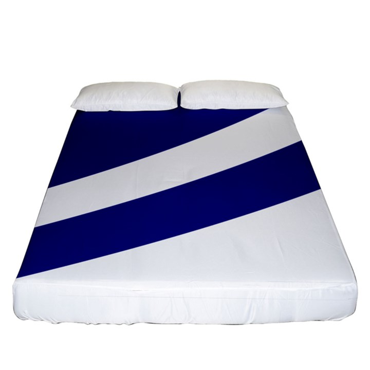 Franco-Albertan Flag Fitted Sheet (King Size)