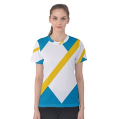 Flag Of The Franco Yukonnais Women s Cotton Tee