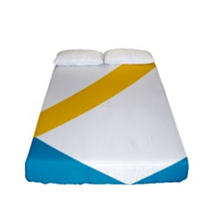Flag Of The Franco Yukonnais Fitted Sheet (full/ Double Size)