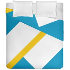 Flag Of The Franco Yukonnais Duvet Cover Double Side (california King Size)