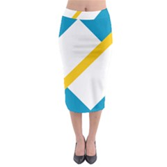 Flag Of The Franco Yukonnais Midi Pencil Skirt
