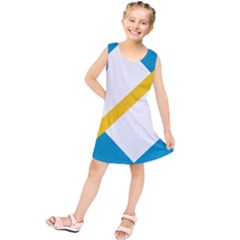 Flag Of The Franco Yukonnais Kids  Tunic Dress
