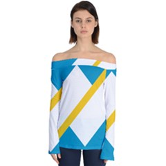 Flag Of The Franco-yukonnais Off Shoulder Long Sleeve Top
