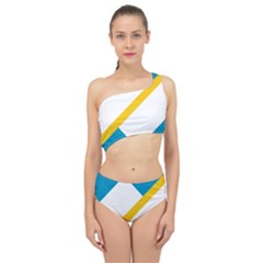 Flag Of The Franco Yukonnais Spliced Up Two Piece Swimsuit