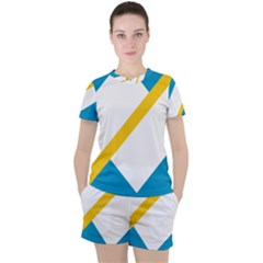 Flag Of The Franco Yukonnais Women s Tee And Shorts Set