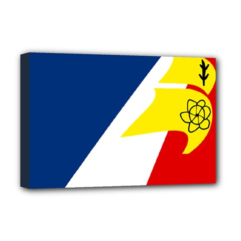 Franco Terreneuviens Flag Deluxe Canvas 18  X 12  (stretched) by abbeyz71