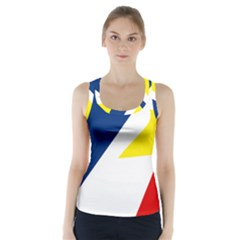 Franco Terreneuviens Flag Racer Back Sports Top