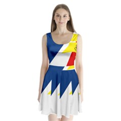 Franco Terreneuviens Flag Split Back Mini Dress