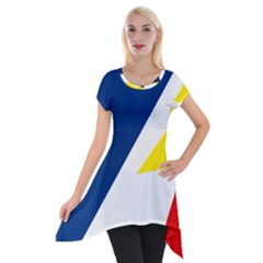 Franco Terreneuviens Flag Short Sleeve Side Drop Tunic