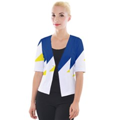 Franco Terreneuviens Flag Cropped Button Cardigan