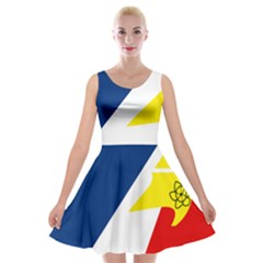 Franco Terreneuviens Flag Velvet Skater Dress