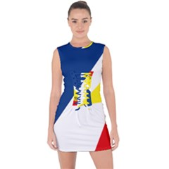 Franco Terreneuviens Flag Lace Up Front Bodycon Dress