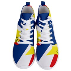 Franco Terreneuviens Flag Men s Lightweight High Top Sneakers by abbeyz71